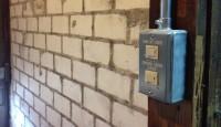漆喰壁を目地だけモルタルでレンガ調に