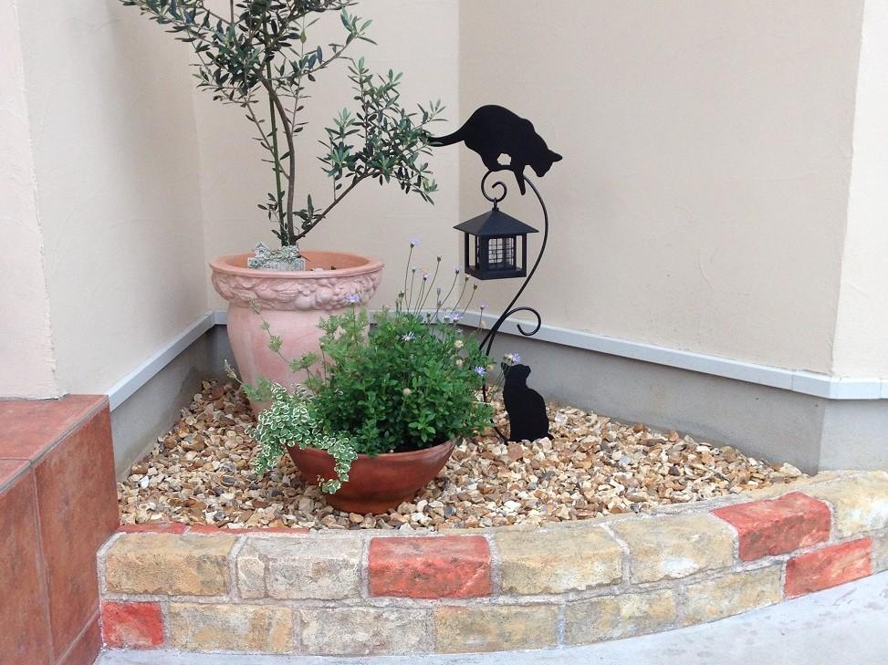 花壇をリフォーム